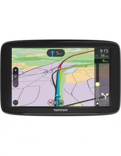 """TOMTOM Navegador VIA62 6""""/Mapas Europeos y Trafico Real De Por Vida/ Manos Libres/App Para Moviles"""