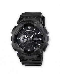 CASIO BRAND GA-110CM-8AER Reloj G-Shock Camuflaje Hora Mundial, Fecha, 5 Alarmas, Submergible, Corre