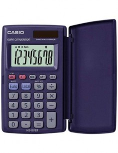 CASIO Calculadora Bolsillo HS-8VER 8 Digitos Solar Pilas