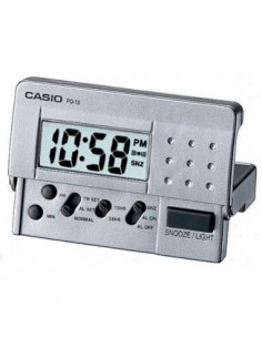 CASIO Reloj Despertador Digital PQ-10D Plata