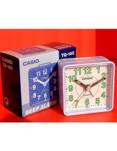 CASIO Reloj Despertador TQ-140 Blanco