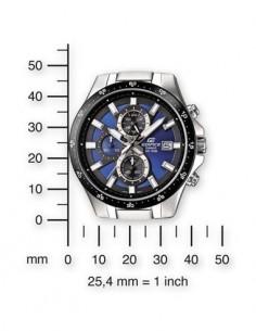 CASIO BRAND EFR-519D-2AVEF Reloj Edifice Analogico, Acero Inoxidable, Sfera 43mm, Fecha, Resistente