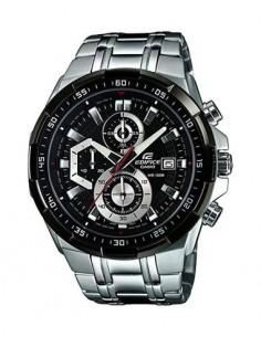 CASIO BRAND EFR-539D-1AVUEF Reloj Edifice Analogico, Acero Inoxidable Plata,Cronometro, Fecha
