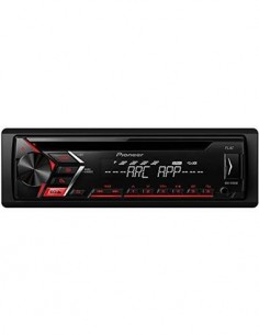 PIONEER Radio CD de Coche DEH-S100UB Mp3, Aux In, Usb, FLAC Compatible Con Android