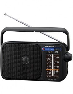 PANASONIC RF-2400D Radio Portatil AM/FM Negra