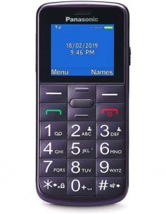 PANASONIC Telefono Movil KX-TU110EXV Violeta Dual Sim, Teclas Grandes, Boton SOS, Bluetooth, MicroSd