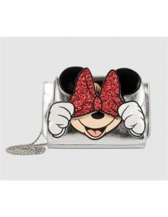 DISNEY Bolso Bandolera Diseño Minnie Plateado