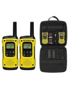 MOTOROLA TLKR T92 H2O Pack de 2 Walkies 8 Canales, 121 Subtonos, 10KM, Waterproof
