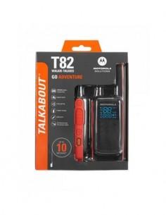 MOTOROLA Pack de Walkie T82 GO ADVENTURE 10Km PMR466, 16 Canales, Linterna, Resistente a Salpicadura