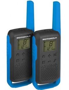 MOTOROLA Pareja Walkies T62 PMR446 8Km 16 Canales Negro/Azul