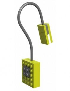 AURORA Linterna Led Con Pinza Libro Diseño Lego Block Verde