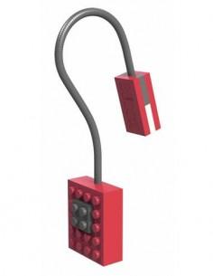 AURORA Linterna Led Con Pinza Libro Diseño Lego Block Rojo