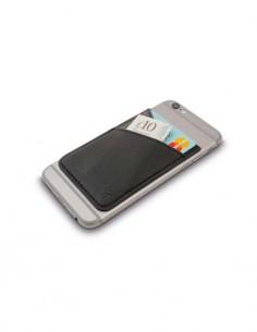 BOOKAROO Funda Para Tarjetas Credito Y Dinero Adherente Trasera del Movil Phone Pocket Marron