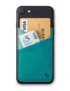 BOOKAROO Funda Para Tarjetas Credito Y Dinero Adherente Trasera del Movil Phone Pocket Azul