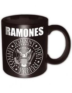 Taza RAMONES Con Diseño Logo Jhonny/Joey/Deedee/Tommy