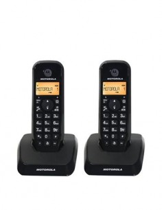 MOTOROLA Telefono Inalambrico Duo S1202 Negro Manos Libre/ID Llamadas/50 Agenda