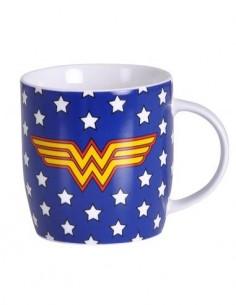 WONDER WOMAN Taza 325ml Con Diseño Estrellas y Logo WW MUGBWW16