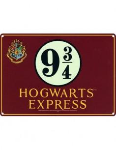 HARRY POTTER Placa Metalica 9 3/4 Hogwarts Express SSA5HP05