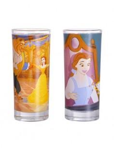 DISNEY La Bella y La Bestia Pack 2 Vasos Con Dibujos GL02DF05