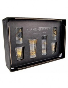 JUEGO DE TRONOS Black And Gold Premium Pack de 6 Vasos de Chupito GLSSGT01