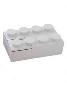 SWAG Raton De Ordenador Usb Con Forma De Lego Blanco