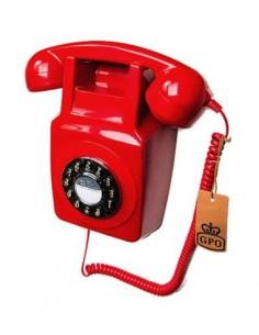 GPO 746 Telefono Sobremesa Retro De Pared Rojo