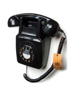 GPO 746 Telefono Sobremesa Retro De Pared Negro