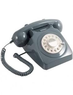 GPO 746 Telefono Sobremesa Retro Dial Gris