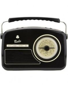 GPO RYDELL Radio Retro 4 Bandas Con Alimentacion Negro