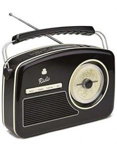 GPO Radio Portatil Analogica y Digital DAB+/DAB Band III FM Retro Rydell Funcion Alarma/Sleep/20 Mem