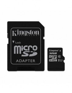 KINGSTON Tarjeta Memoria Micro SDHC I 32Gb Clase 10 Hd 80Mb/s Con Adaptador