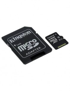 KINGSTON Tarjeta Memoria Micro SDHC I 64Gb Clase 10 Hd 80Mb/s Con Adaptador