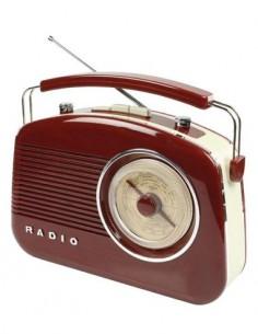 KONIG Radio AM/FM Diseño Retro 220V/Pilas Marron HAV-TR710BR