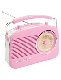 KONIG Radio AM/FM Diseño Retro 220V/Pilas Rosa HAV-TR710PI