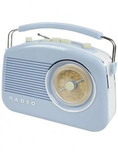 KONIG Radio AM/FM Diseño Retro 220V/Pilas Azul HAV-TR710BU