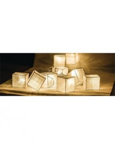 HQ Tira de 10 Luces Led Forma Cubo Con Pilas