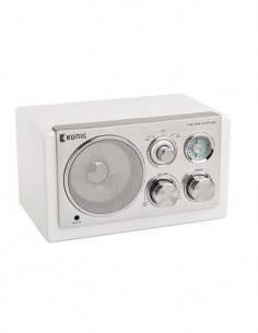 KONIG HAV-TR1200 Radio Vintage Sobremesa Blanco AM/FM, Aux