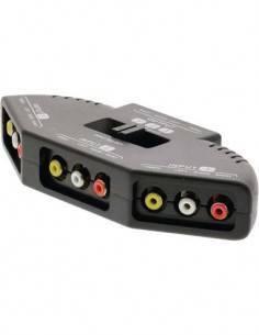 VALUELINE Selector de Audio Video 3 Vias 1 Salida 3 Entradas VLVSW2403