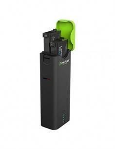 RE-FUEL Cargador Portatil Para 2 Bateria Gopro Hero 4 Con Bateria Externa 5200Mah