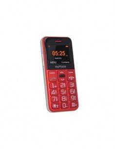 MYPHONE Telefono Movil HALO Roja Teclas Grandes, Camara, Radio, Bluetooth, Micro SD