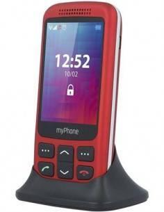 MY PHONE Telefono Movil HALO 2  Rojo Radio, Camara, Boton SOS