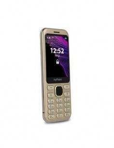 MYPHONE Telefono Movil MAESTRO Dorado, Camara, Bluetooth, Micro SD, Linterna, Mp3