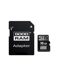 GOOD RAM Tarjeta Memoria Micro SDHC 16Gb Con Adaptador Clase 10 UHS-I 100MB/s