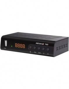 AMIKO Sintonizador TDT T60 Hd Digital, Usb, Full Hd, Euroconector