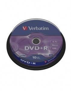 VERBATIM Lata 10 Pcs DVD+R 16x