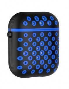 Funda Airpods Pro Silicona Con Mosqueton Diseño Agujeritos Surtido Colores