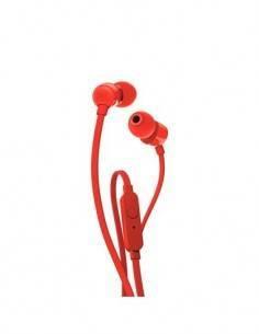 JBL Mini Auriculares Estereo T110 Con Microfono Rojo