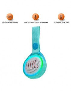 JBL Altavoz Portatil Bluetooth JuniorJRPOP Resistente a Salpicaduras Azul Claro