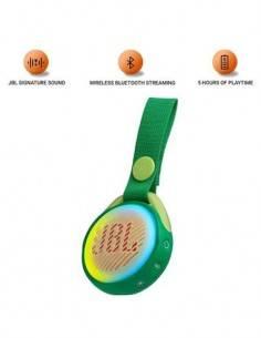 JBL Altavoz Portatil Bluetooth JuniorJRPOP Resistente a Salpicaduras Verde