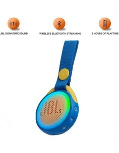JBL Altavoz Bluetooth JRPOP Junior, Resistente a Salpicaduras Azul